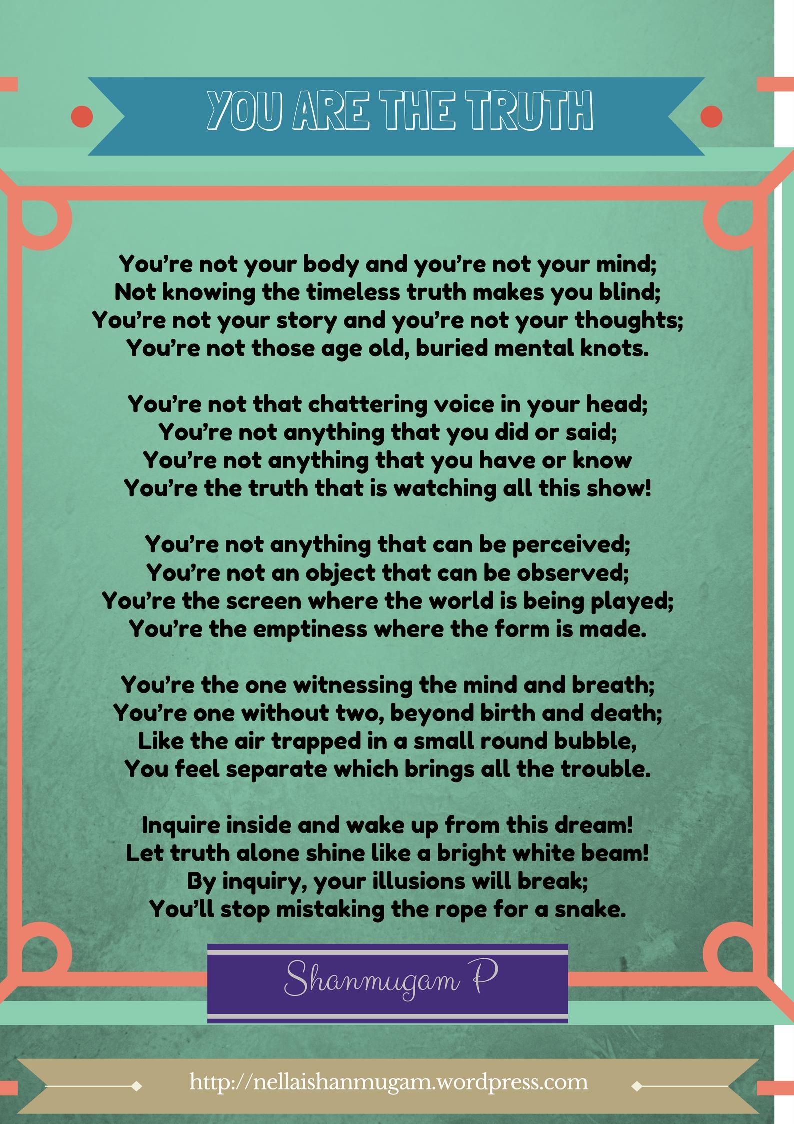 You are the Truth - The Essential Wisdom of Advaita