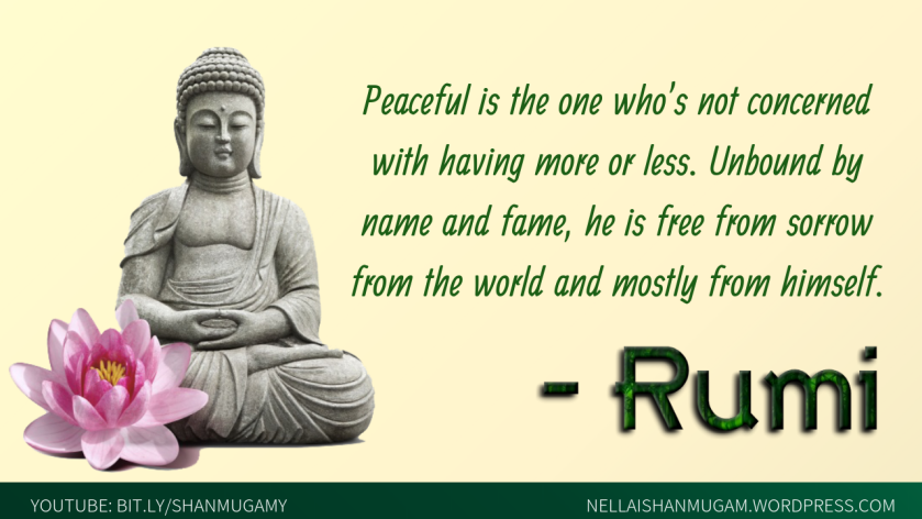 peaceful one - rumi