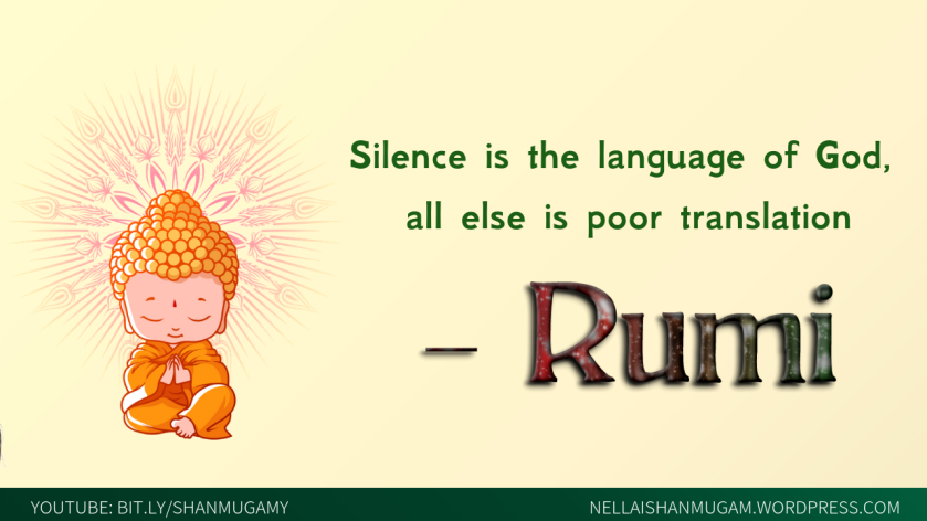 silence is the language