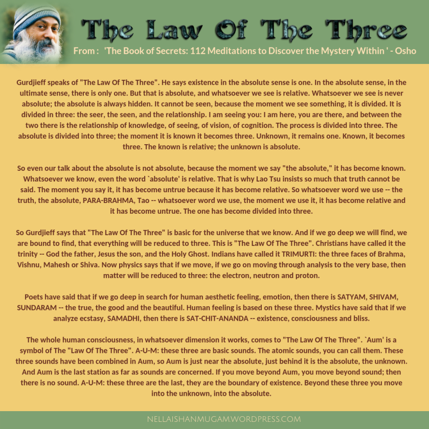 the law of the three