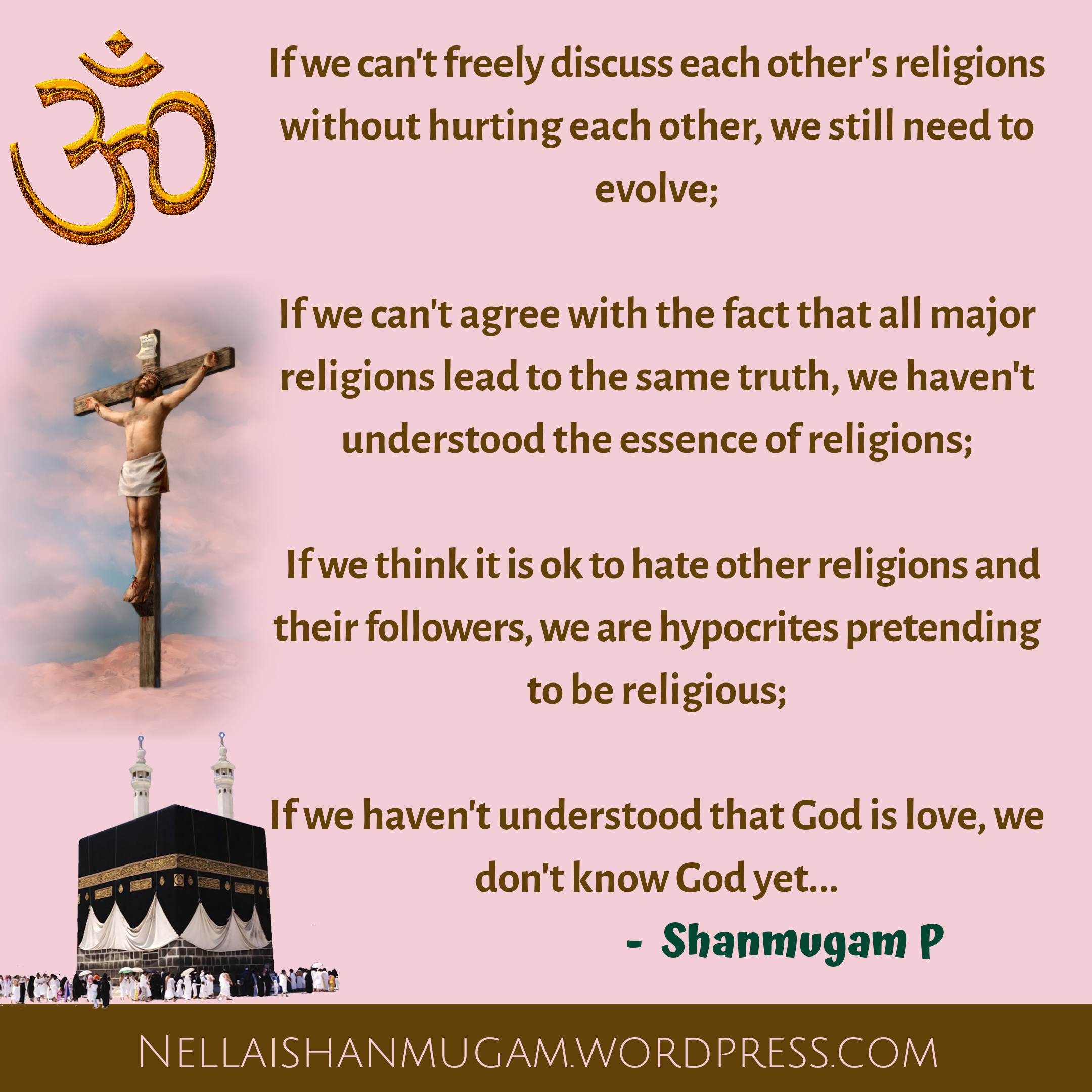 Religious tolerance - Unity of Hinduism, Christianity and Islam